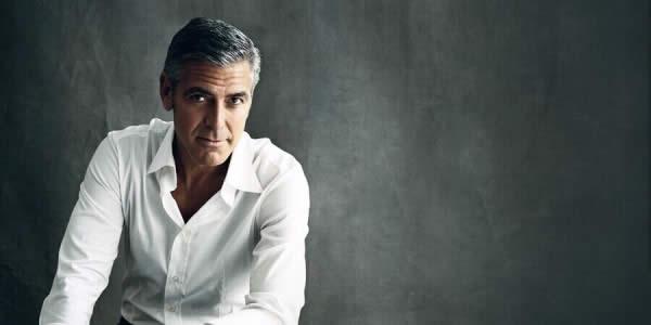 乔治克鲁尼穿白衬衫