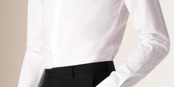 合身衬衫腰部示意图