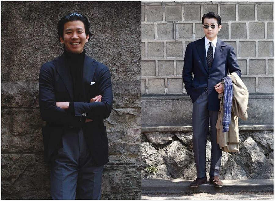 藏青色的西藏配什么领带_深蓝色西装搭配赏析 — 常人街拍篇 – 仕族