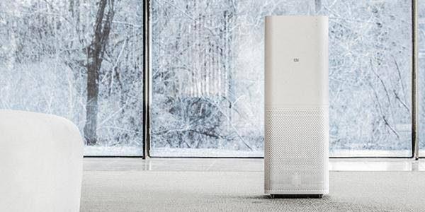 白色长方体立式空气净化器