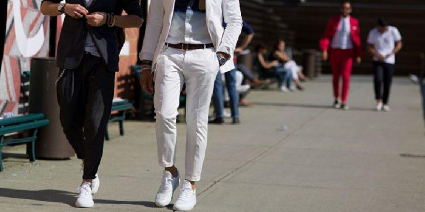 小白鞋搭配街拍