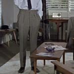 裤线笔挺不打褶,西裤有妙招