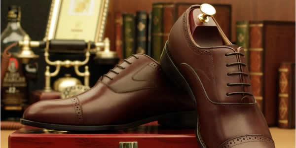Eabri棕色内缝工艺皮鞋