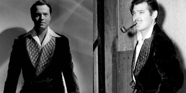 十九世纪男演员穿吸烟装的剧照